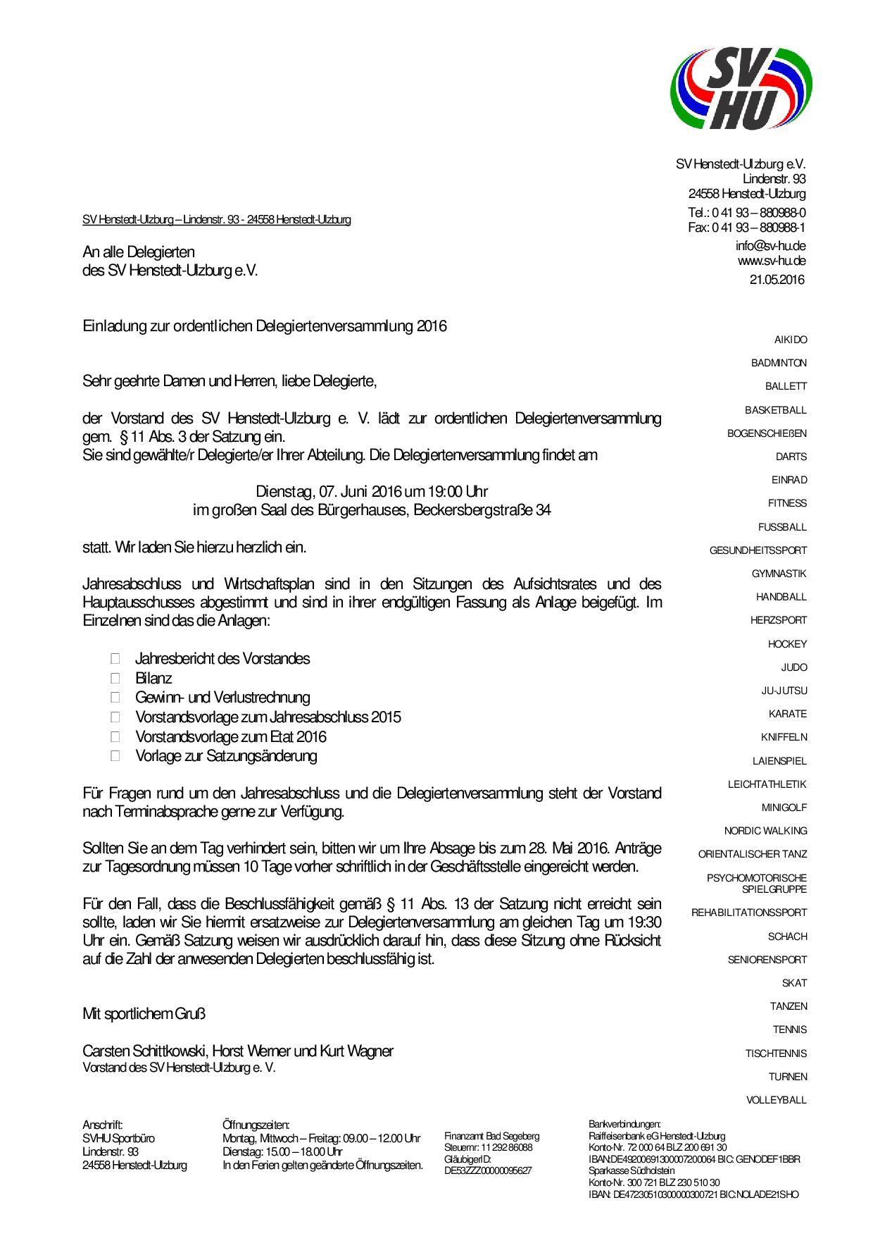 delegiertenversammlung sportverein henstedt ulzburg e v. Black Bedroom Furniture Sets. Home Design Ideas