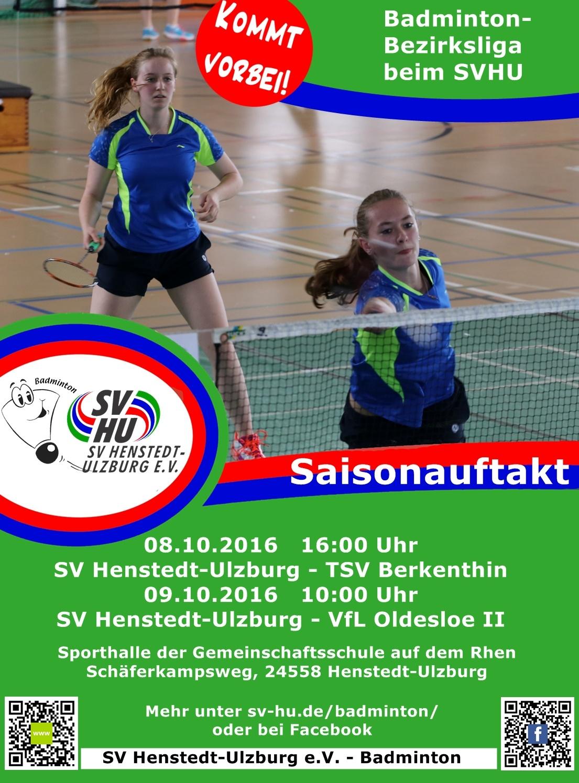 badminton saisonauftakt sportverein henstedt ulzburg e v. Black Bedroom Furniture Sets. Home Design Ideas