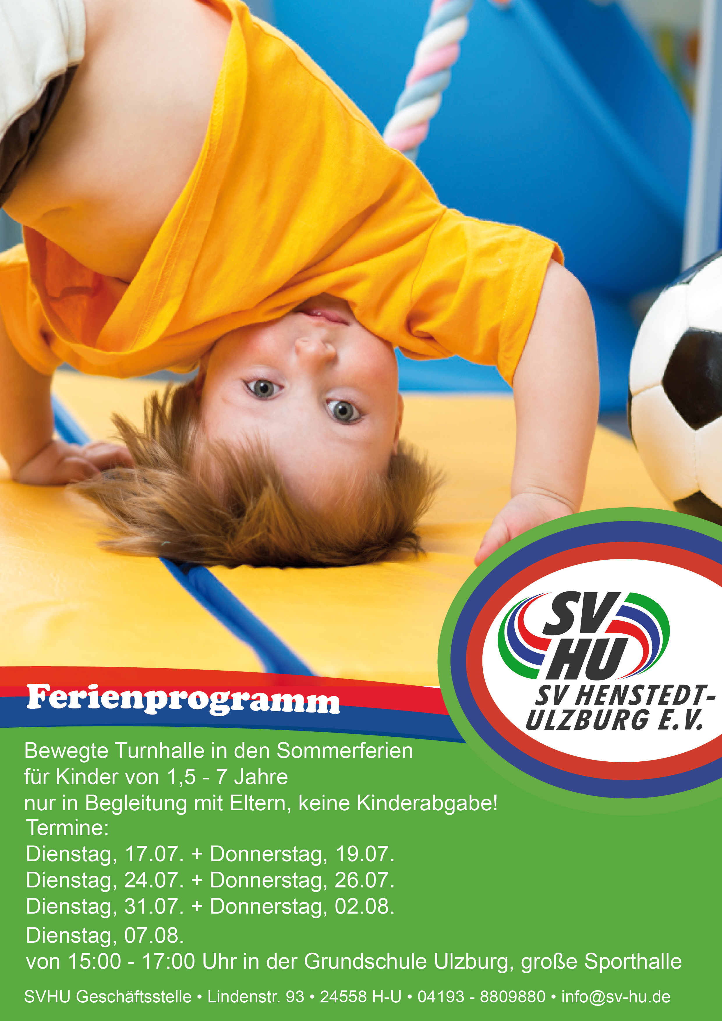ferienprogramm sportverein henstedt ulzburg e v. Black Bedroom Furniture Sets. Home Design Ideas
